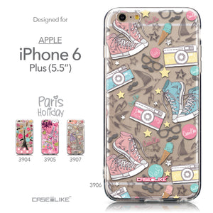 Collection - CASEiLIKE Apple iPhone 6 Plus back cover Paris Holiday 3906