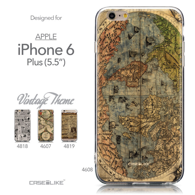 Collection - CASEiLIKE Apple iPhone 6 Plus back cover World Map Vintage 4608
