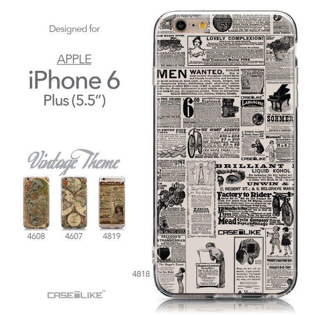Collection - CASEiLIKE Apple iPhone 6 Plus back cover Vintage Newspaper Advertising 4818