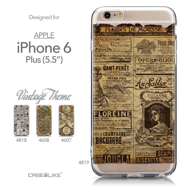 Collection - CASEiLIKE Apple iPhone 6 Plus back cover Vintage Newspaper Advertising 4819