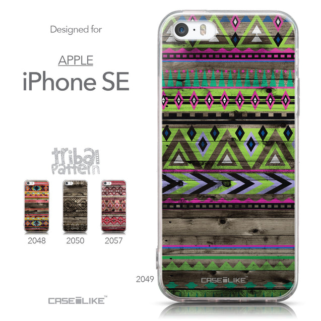 Collection - CASEiLIKE Apple iPhone SE back cover Indian Tribal Theme Pattern 2049