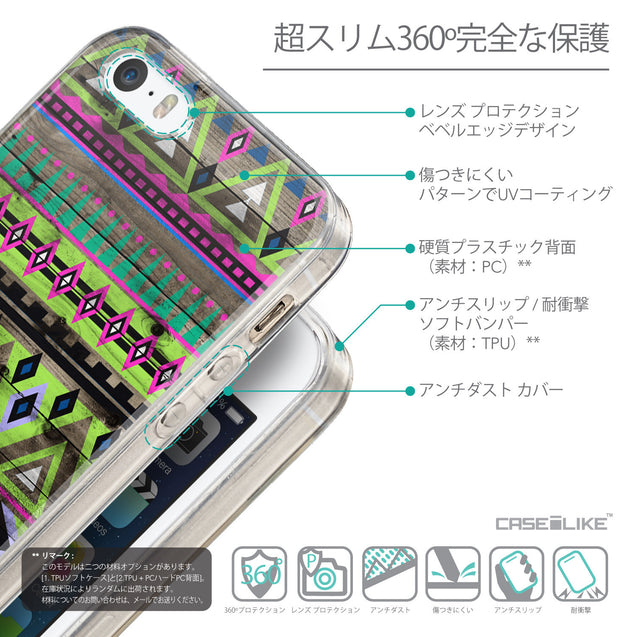Details in Japanese - CASEiLIKE Apple iPhone SE back cover Indian Tribal Theme Pattern 2049