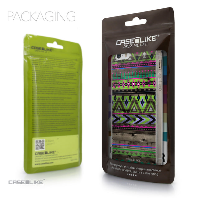 Packaging - CASEiLIKE Apple iPhone SE back cover Indian Tribal Theme Pattern 2049