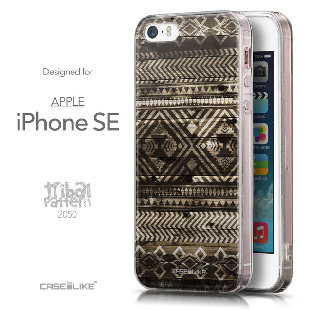 Front & Side View - CASEiLIKE Apple iPhone SE back cover Indian Tribal Theme Pattern 2050
