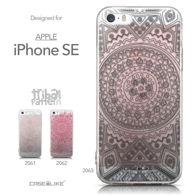 Collection - CASEiLIKE Apple iPhone SE back cover Indian Line Art 2063