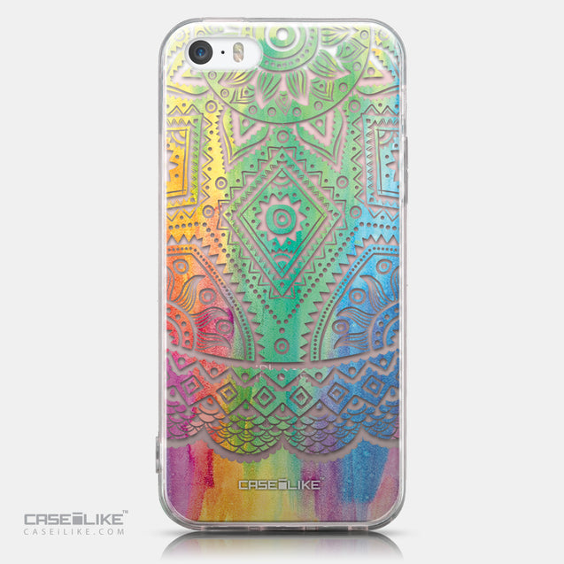 CASEiLIKE Apple iPhone SE back cover Indian Line Art 2064