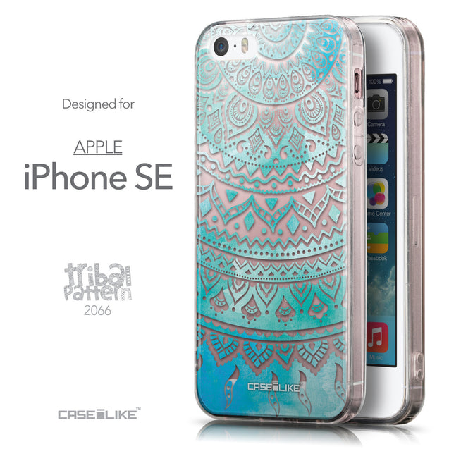Front & Side View - CASEiLIKE Apple iPhone SE back cover Indian Line Art 2066