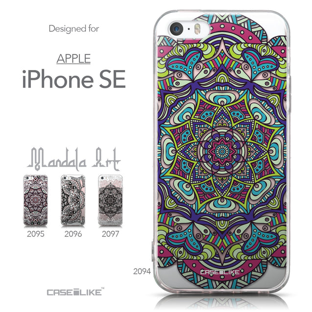 Collection - CASEiLIKE Apple iPhone SE back cover Mandala Art 2094