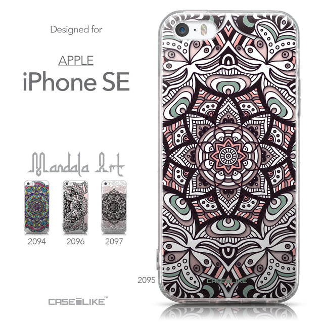Collection - CASEiLIKE Apple iPhone SE back cover Mandala Art 2095