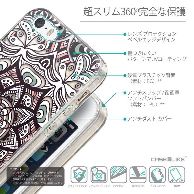 Details in Japanese - CASEiLIKE Apple iPhone SE back cover Mandala Art 2095