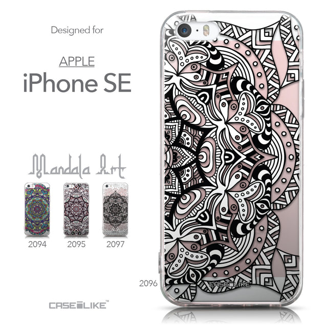 Collection - CASEiLIKE Apple iPhone SE back cover Mandala Art 2096