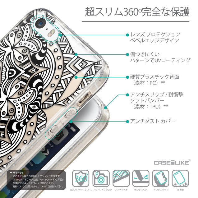 Details in Japanese - CASEiLIKE Apple iPhone SE back cover Mandala Art 2096