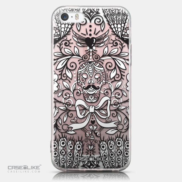 CASEiLIKE Apple iPhone SE back cover Roses Ornamental Skulls Peacocks 2227