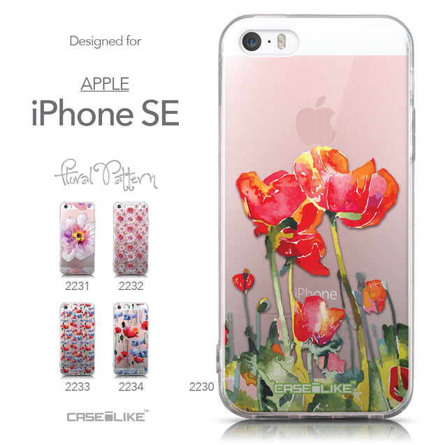 Collection - CASEiLIKE Apple iPhone SE back cover Watercolor Floral 2230