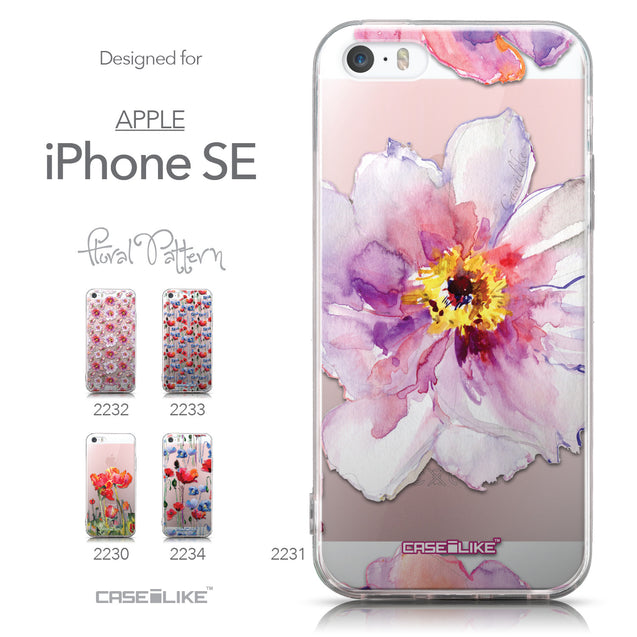 Collection - CASEiLIKE Apple iPhone SE back cover Watercolor Floral 2231