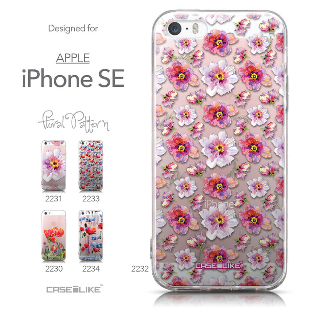 Collection - CASEiLIKE Apple iPhone SE back cover Watercolor Floral 2232