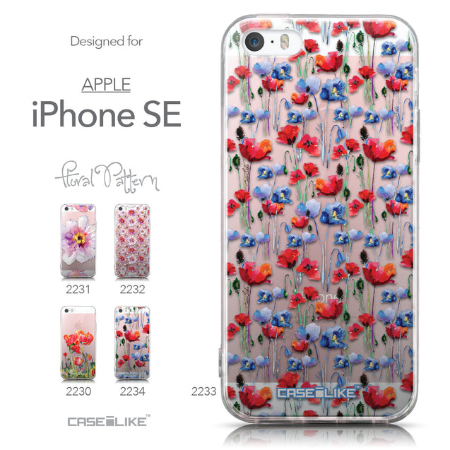 Collection - CASEiLIKE Apple iPhone SE back cover Watercolor Floral 2233