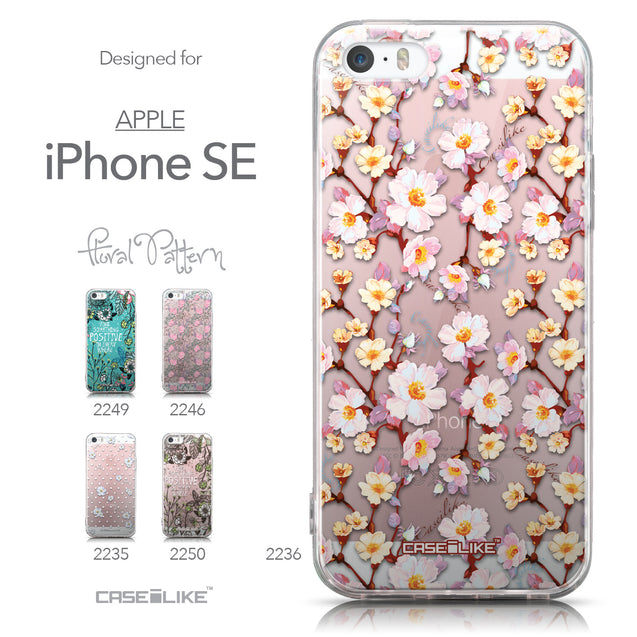 Collection - CASEiLIKE Apple iPhone SE back cover Watercolor Floral 2236