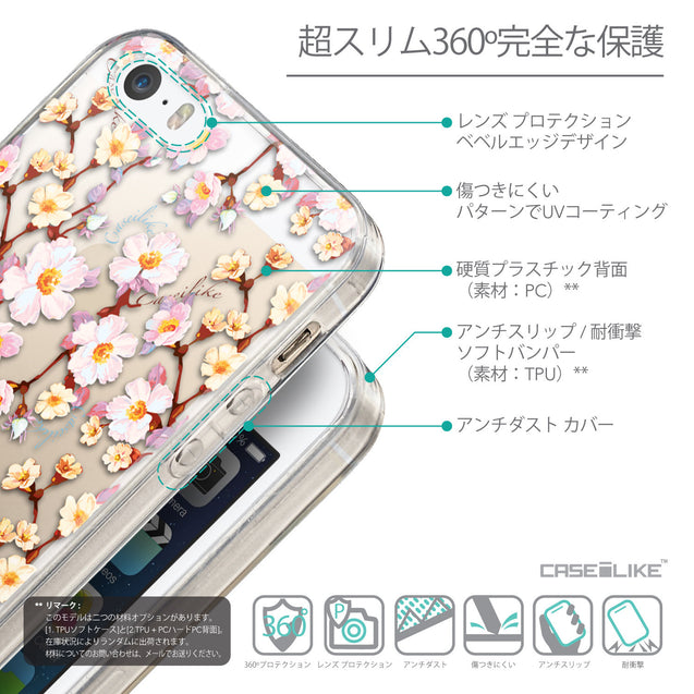 Details in Japanese - CASEiLIKE Apple iPhone SE back cover Watercolor Floral 2236