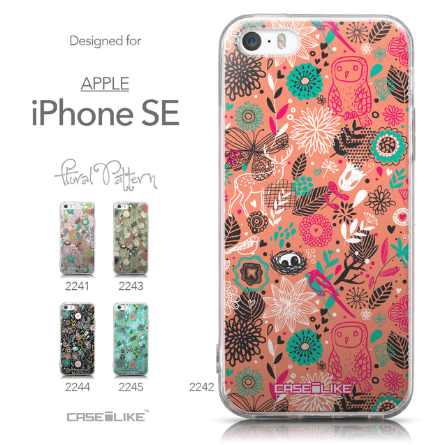 Collection - CASEiLIKE Apple iPhone SE back cover Spring Forest Pink 2242
