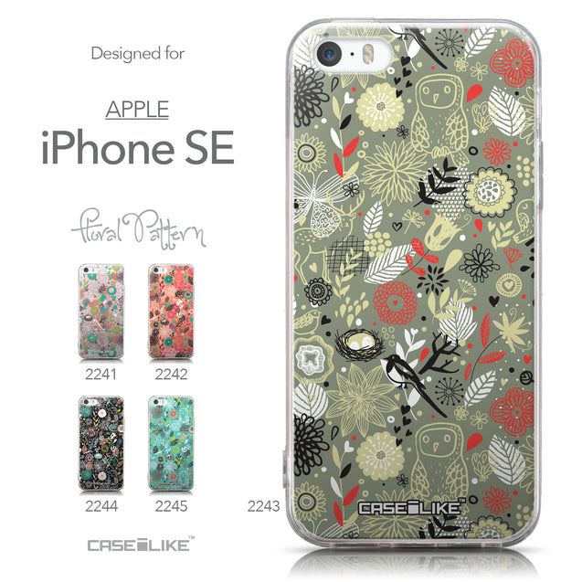 Collection - CASEiLIKE Apple iPhone SE back cover Spring Forest Gray 2243