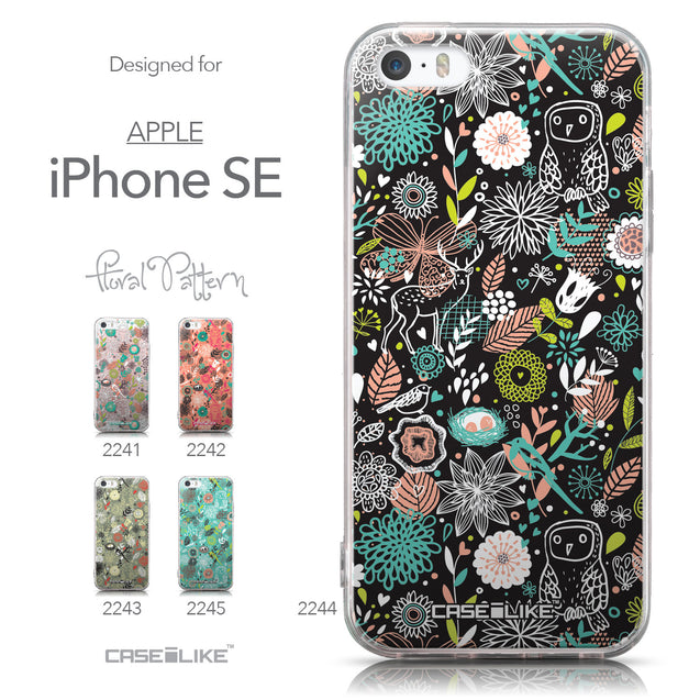 Collection - CASEiLIKE Apple iPhone SE back cover Spring Forest Black 2244