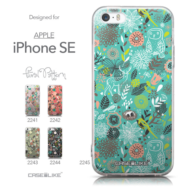 Collection - CASEiLIKE Apple iPhone SE back cover Spring Forest Turquoise 2245