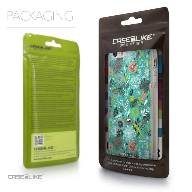 Packaging - CASEiLIKE Apple iPhone SE back cover Spring Forest Turquoise 2245