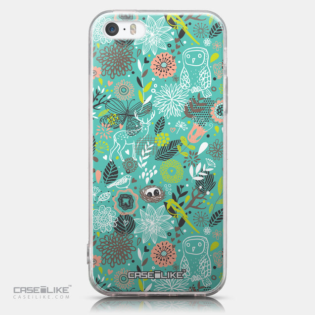 CASEiLIKE Apple iPhone SE back cover Spring Forest Turquoise 2245