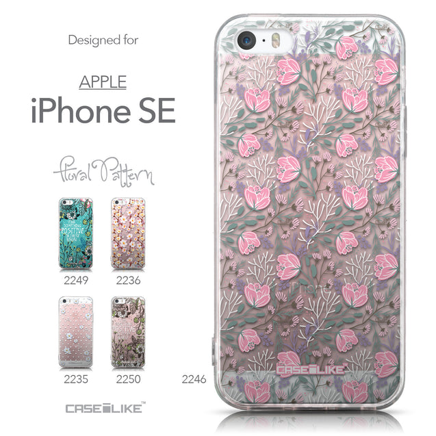Collection - CASEiLIKE Apple iPhone SE back cover Flowers Herbs 2246