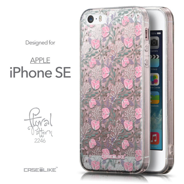 Front & Side View - CASEiLIKE Apple iPhone SE back cover Flowers Herbs 2246