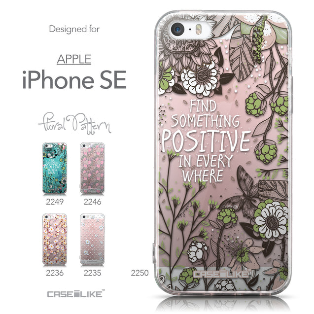 Collection - CASEiLIKE Apple iPhone SE back cover Blooming Flowers 2250