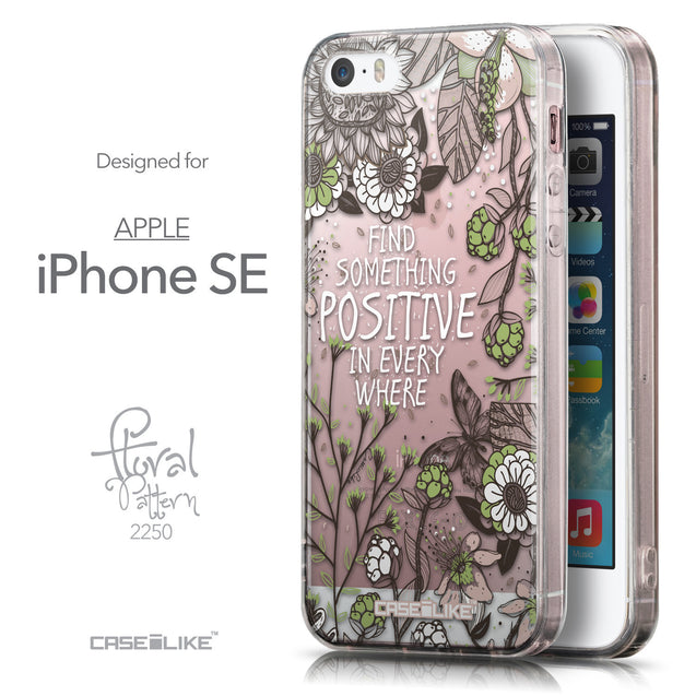 Front & Side View - CASEiLIKE Apple iPhone SE back cover Blooming Flowers 2250