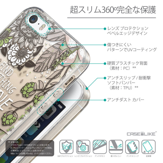 Details in Japanese - CASEiLIKE Apple iPhone SE back cover Blooming Flowers 2250
