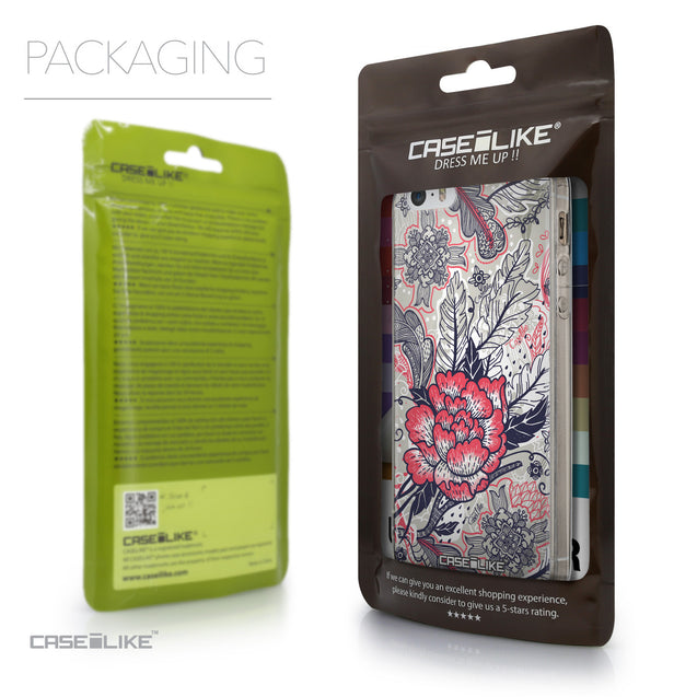 Packaging - CASEiLIKE Apple iPhone SE back cover Vintage Roses and Feathers Beige 2251