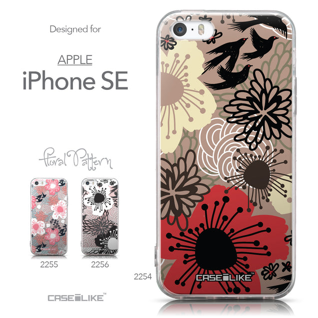 Collection - CASEiLIKE Apple iPhone SE back cover Japanese Floral 2254