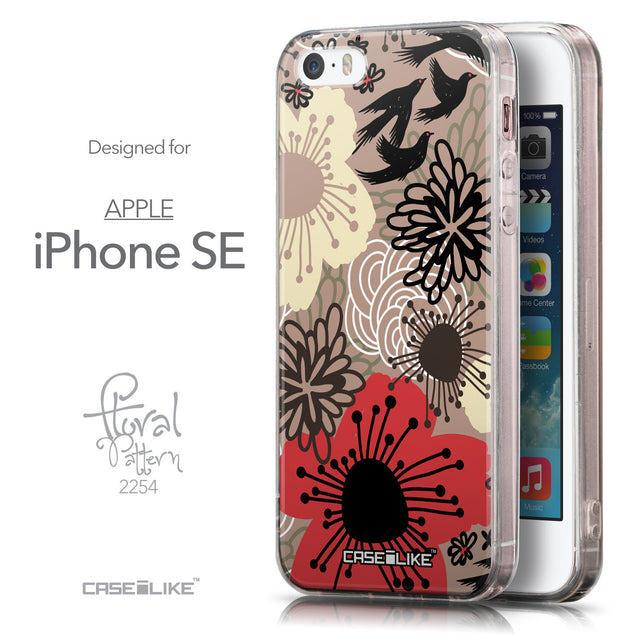Front & Side View - CASEiLIKE Apple iPhone SE back cover Japanese Floral 2254
