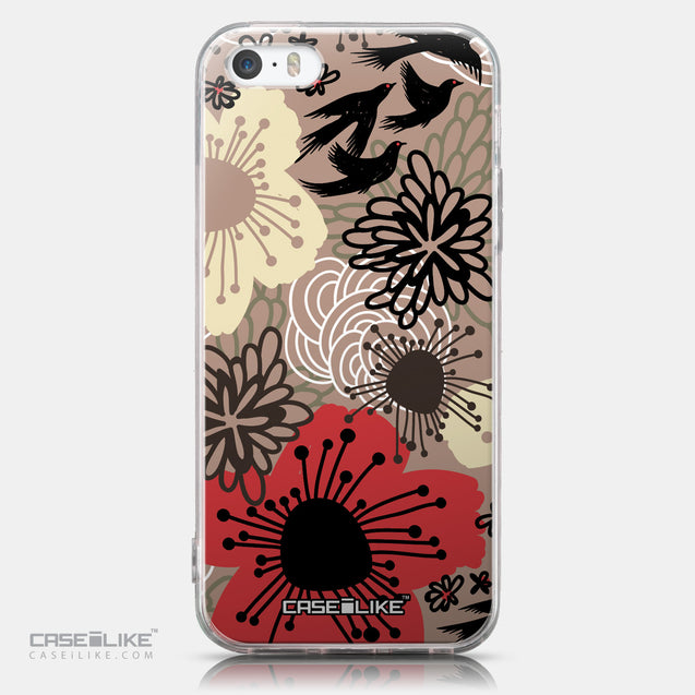 CASEiLIKE Apple iPhone SE back cover Japanese Floral 2254