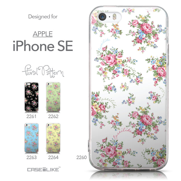 Collection - CASEiLIKE Apple iPhone SE back cover Floral Rose Classic 2260