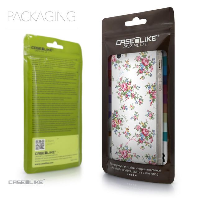 Packaging - CASEiLIKE Apple iPhone SE back cover Floral Rose Classic 2260
