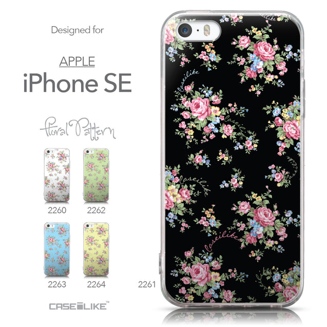 Collection - CASEiLIKE Apple iPhone SE back cover Floral Rose Classic 2261
