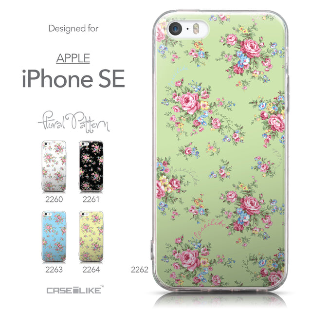 Collection - CASEiLIKE Apple iPhone SE back cover Floral Rose Classic 2262