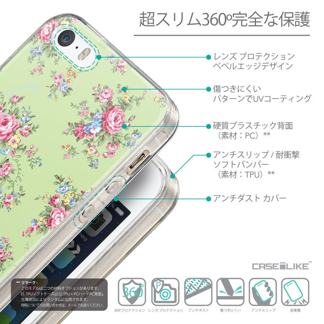 Details in Japanese - CASEiLIKE Apple iPhone SE back cover Floral Rose Classic 2262