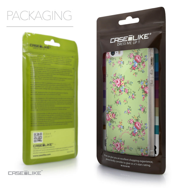 Packaging - CASEiLIKE Apple iPhone SE back cover Floral Rose Classic 2262