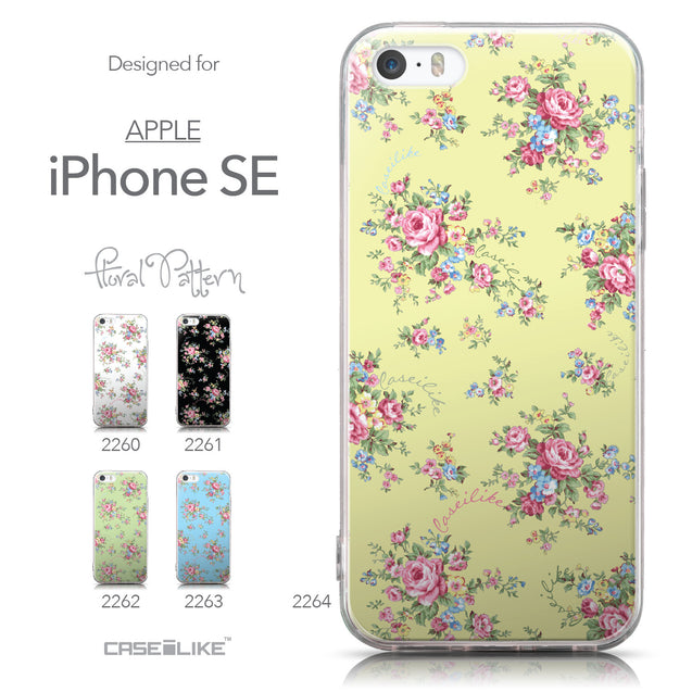 Collection - CASEiLIKE Apple iPhone SE back cover Floral Rose Classic 2264