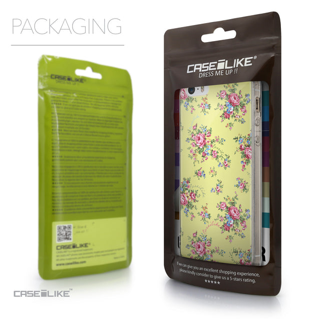 Packaging - CASEiLIKE Apple iPhone SE back cover Floral Rose Classic 2264