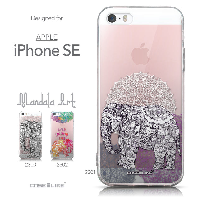 Collection - CASEiLIKE Apple iPhone SE back cover Mandala Art 2301