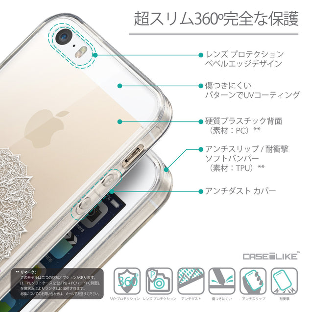 Details in Japanese - CASEiLIKE Apple iPhone SE back cover Mandala Art 2301