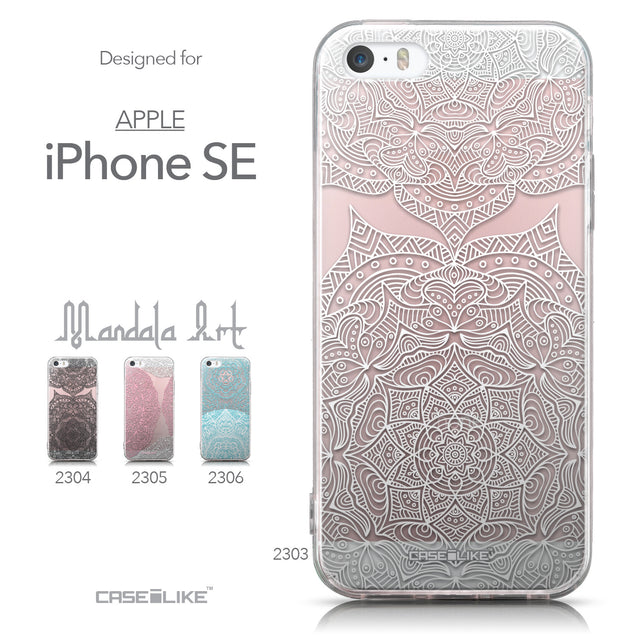 Collection - CASEiLIKE Apple iPhone SE back cover Mandala Art 2303