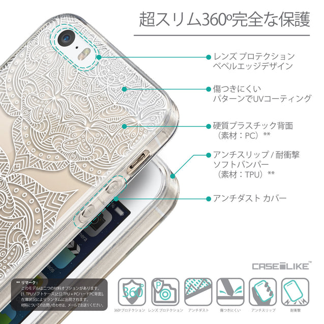 Details in Japanese - CASEiLIKE Apple iPhone SE back cover Mandala Art 2303